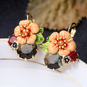 Colorful Flower Drop Earrings - My Coconut Heart