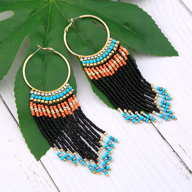 Multi Color Beads Earrings