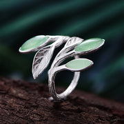 my-coconut-heart - Leaves Ring 925 Sterling Silver
