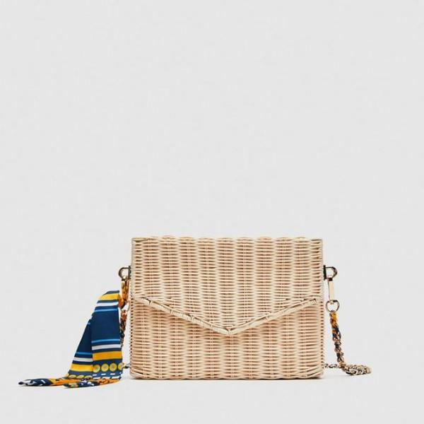 my-coconut-heart - Rattan Straw Crossbody Bag