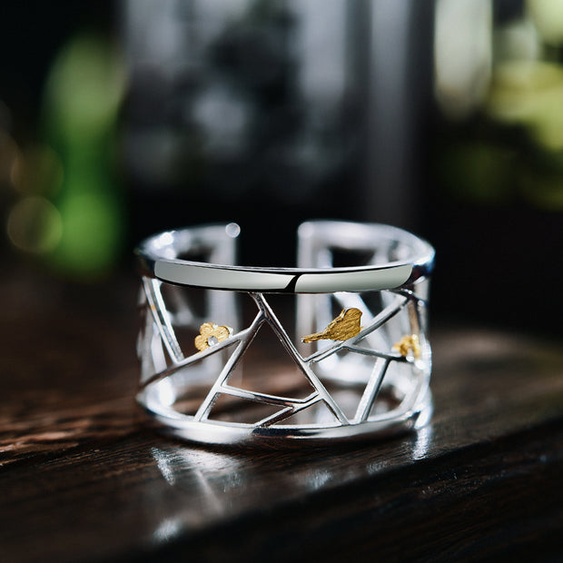 Geometric Ring 925 Sterling Silver
