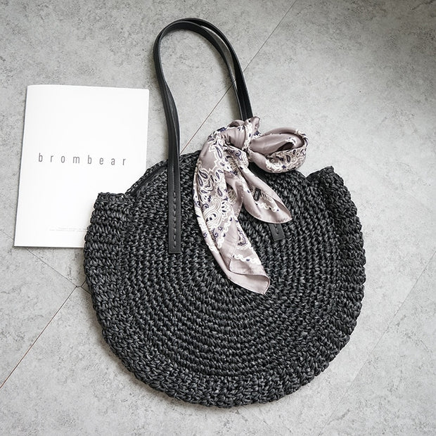 Round Straw Summer Bag