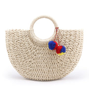 my-coconut-heart - Straw Knitted Handbag