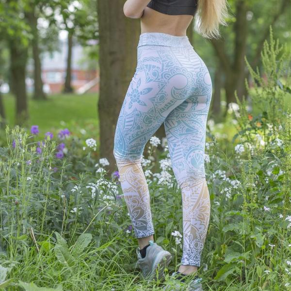 my-coconut-heart - Light Print Mandala Leggings