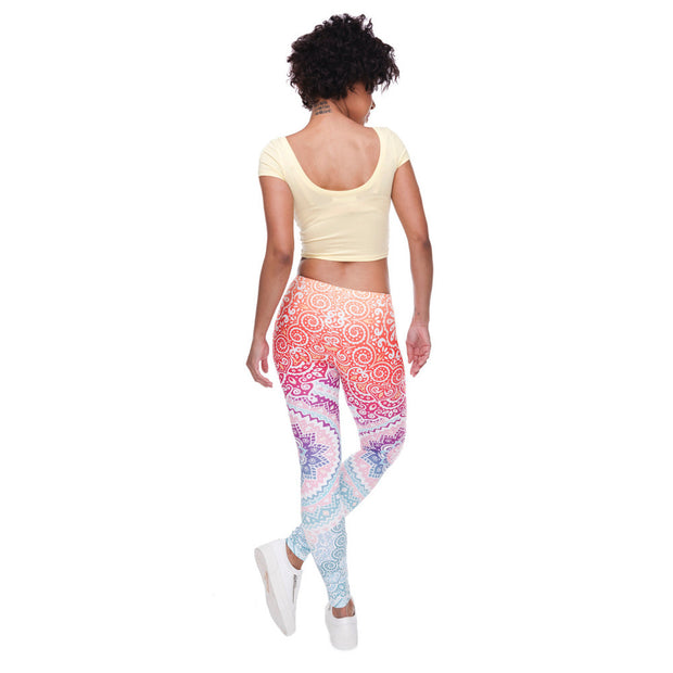 my-coconut-heart - Mandala High-Waist Leggings