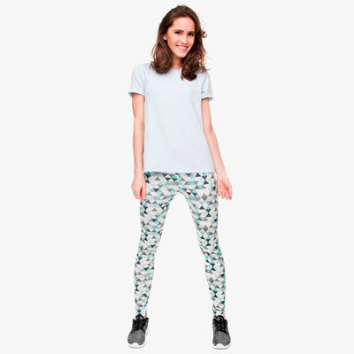 my-coconut-heart - Triangle Geometric Print Leggings