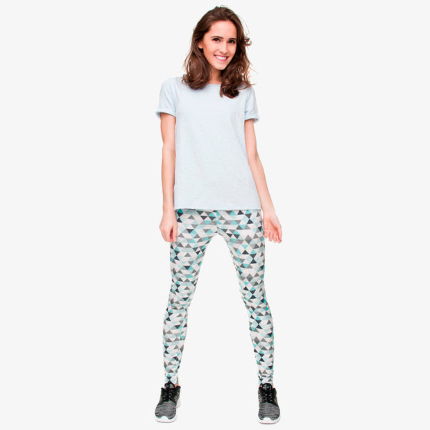 Triangle Geometric Print Leggings