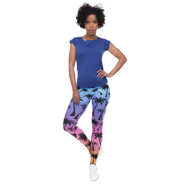 Aloha Mid-Waist Leggings - My Coconut Heart