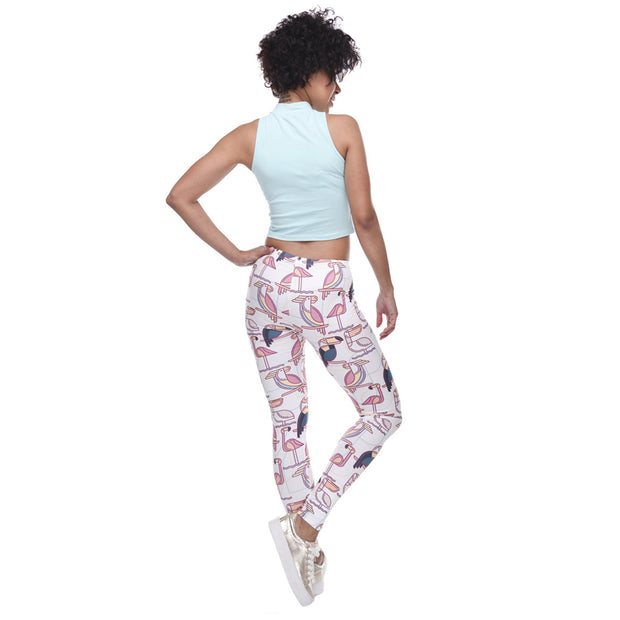 my-coconut-heart - Toucan Mid-Waist Leggings