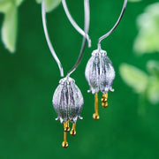 Bell Flower Earrings  925 Sterling Silver - My Coconut Heart