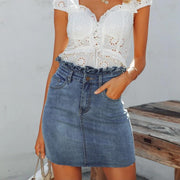 my-coconut-heart - Ruffle Mid Waist Mini Skirt