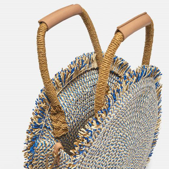 Ethnic Fringed Tote Handbag