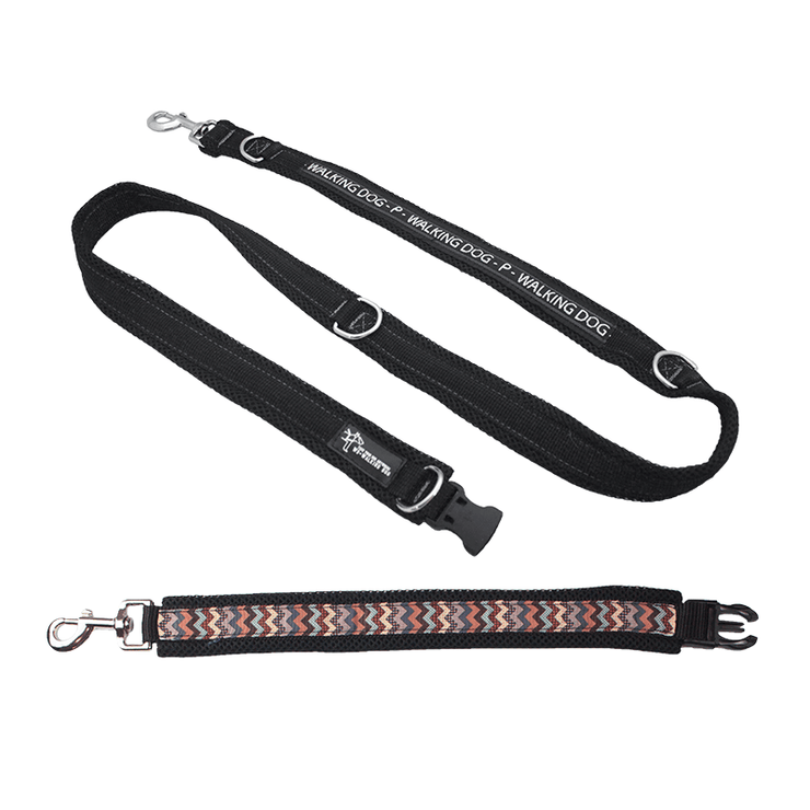 Premium Multifunctional Leash - Brown Stripes
