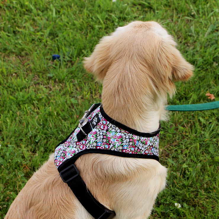 Harness Comfy W Pink Flowers