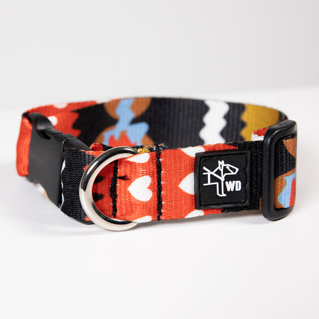Daily Collar - Red Hearts
