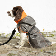 Raincoat Orange Black