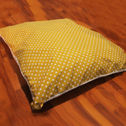 "Pillow Bed ""Cover"" - Mustard Bubbles"
