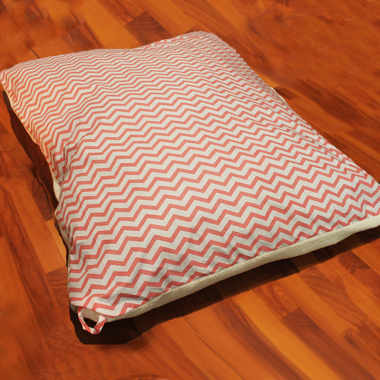 "Pillow Bed ""Cover"" - Pink Stripes"