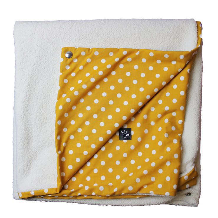 "Pillow Bed ""Blanket"" - Mustard Bubbles"