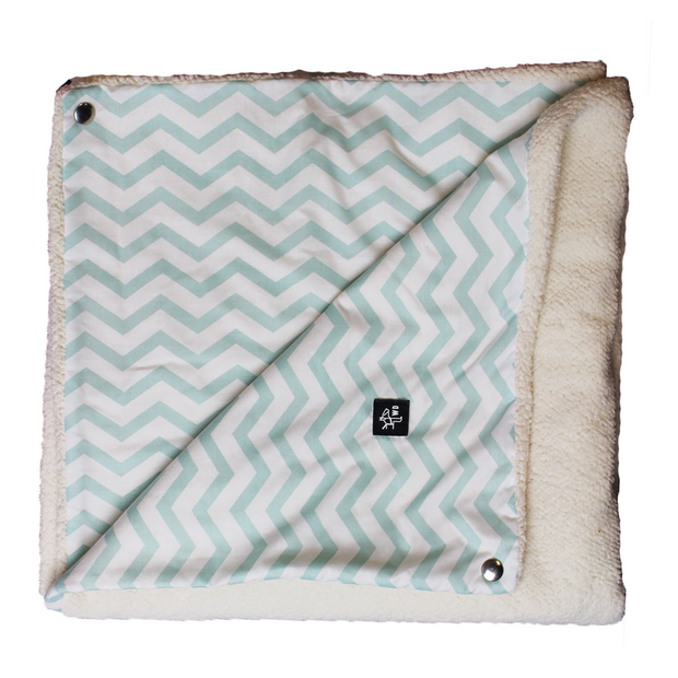 "Pillow Bed ""Blanket"" - Mint Stripes"