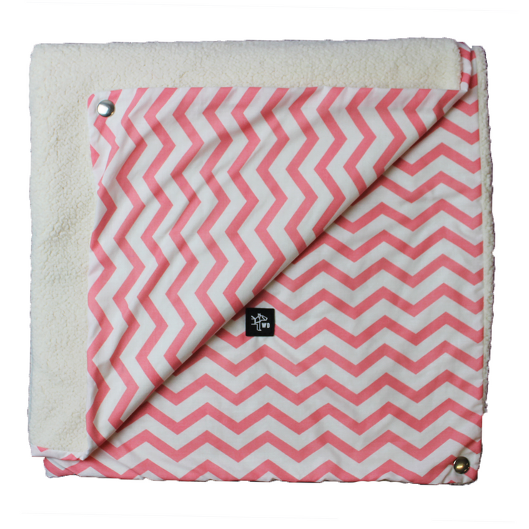 "Pillow Bed ""Blanket"" - Pink Stripes"