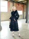 Just Vinci Coat Style 16004, BLACK, 1 Pc. Coat Dress