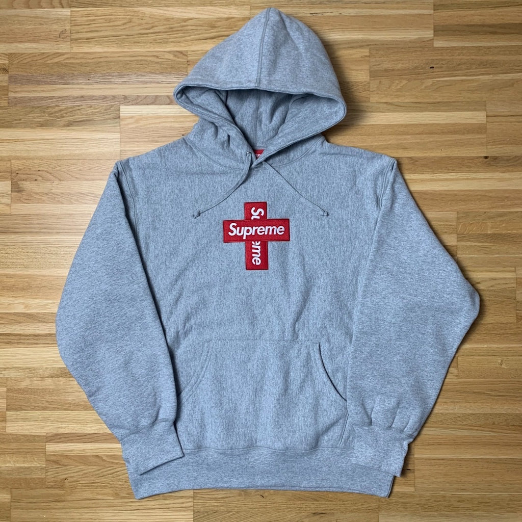 Cross Box Logo Hoodie Heather Grey