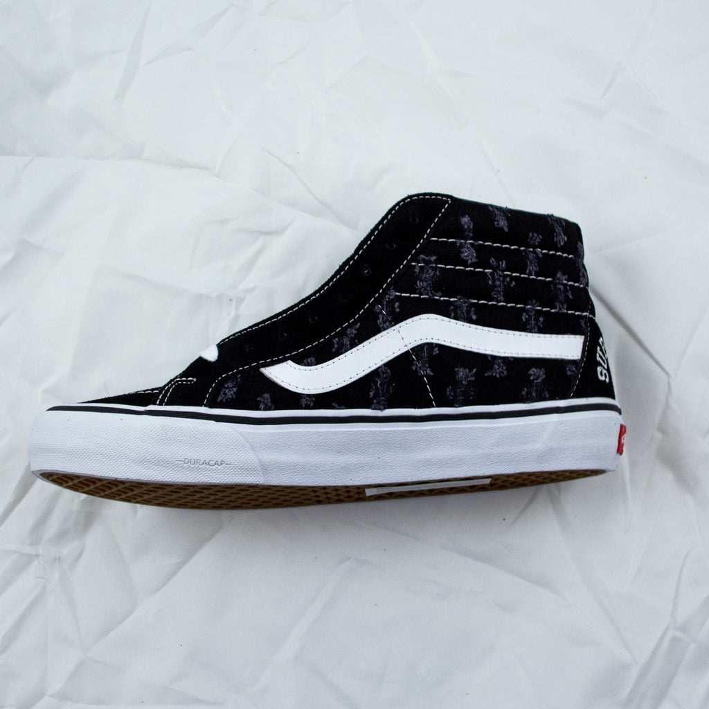 Sk8-Hi Supreme Hole Punch Denim Black