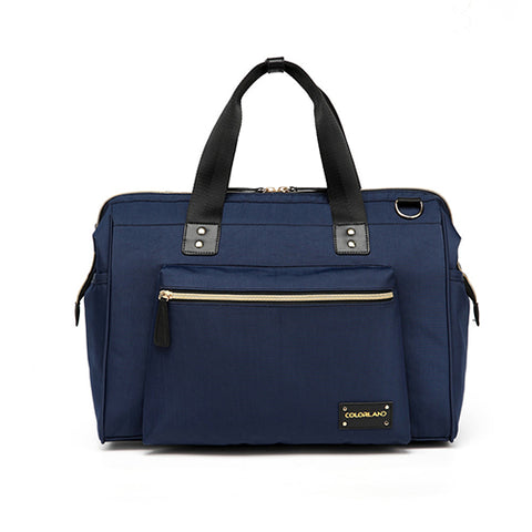 navy blue baby changing bag