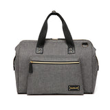 gray baby changing bag