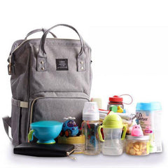 grey land changing bag