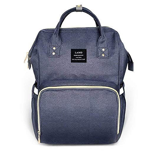 OFFICIAL Land Rucksack Backpack Baby Changing Bags in Navy Blue - babita store