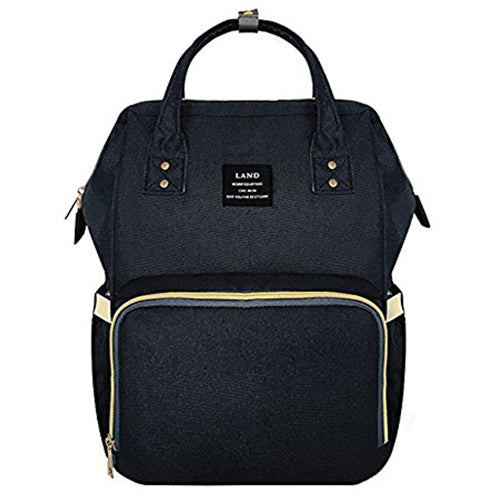 OFFICIAL Land Rucksack Backpack Baby Changing Bags in Black - babita store