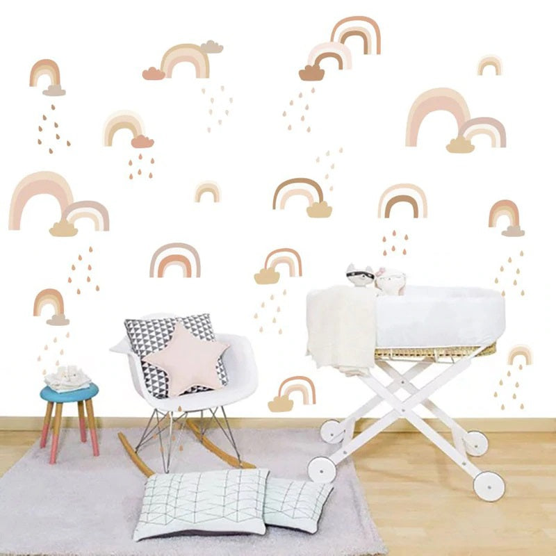 Rainbow wall decal - Shades of gold