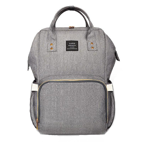 OFFICIAL Land Rucksack Backpack Baby Changing Bags in Grey - babita store