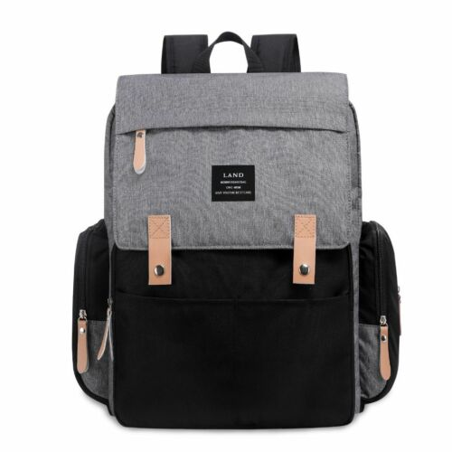 OFFICIAL Land Changing Bag baby Rucksack in Grey