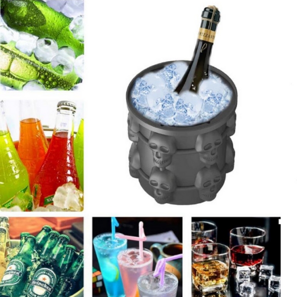 Silicone Skull Ice Cube Bucket