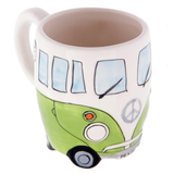 60's Ceramic Hand Painted Peace Van Mug