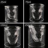 HOT Vodka Wine Skull Head Shot Shape Glass For Bar Party