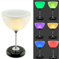 Unique Colorful Changing Wine Cup Wireless Bluetooth Speaker