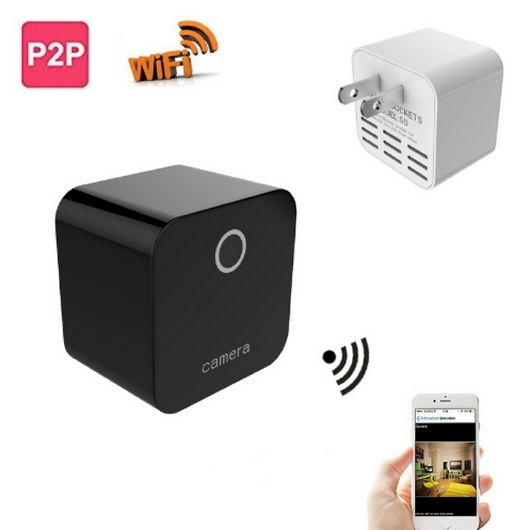 Wireless Hidden Spy Camera Phone Charger