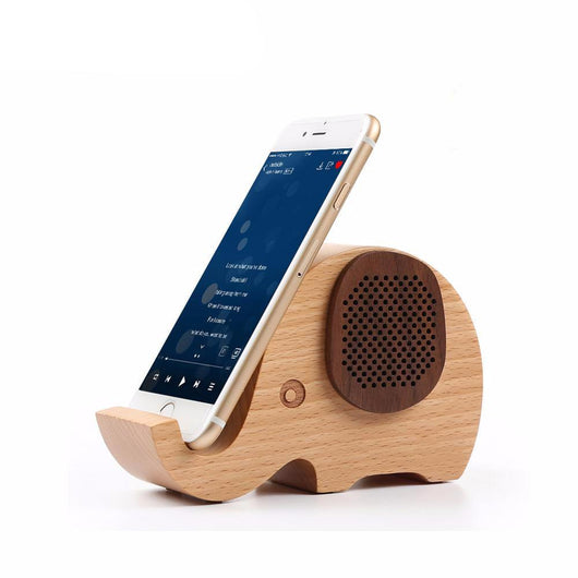2017 Mini Wooden Elephant Wireless Bluetooth Speaker
