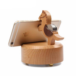2017 Mini Wooden Horse Wireless Bluetooth Speaker