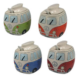 Ceramic Peace Van Sugar Dispenser Bowl