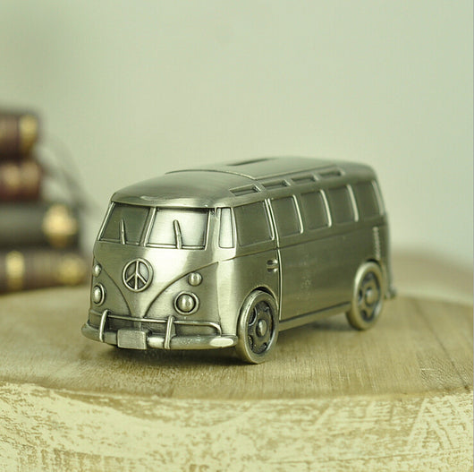 60's Metal Peace Van Coin Collecting Box