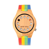 2017 Rainbow Wooden Watch 12 Holes