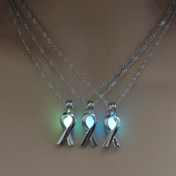 2017 Ribbon Glowing Pendant Necklace