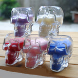 Colorful Glass Skull Candle