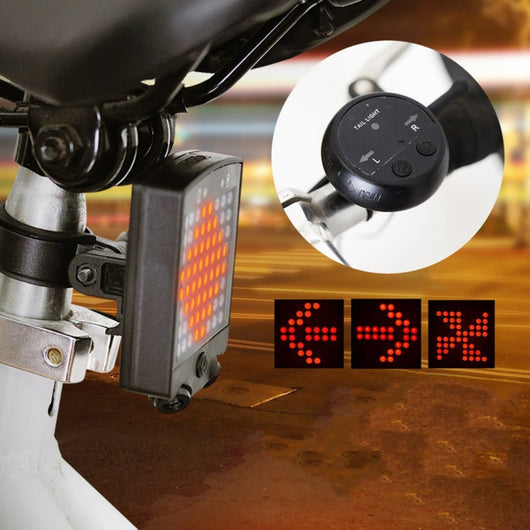 64 LED Wireless Remote Laser Bicycle Turn Signal Rear Light