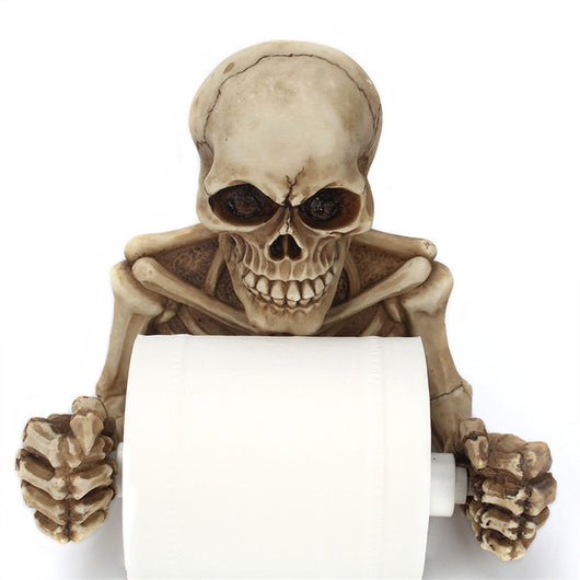Bathroom Skull Paper Roll Holder